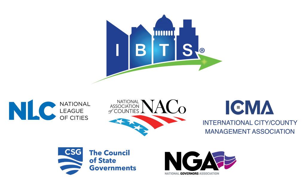 The IBTS logo with its board appointing association logos arranged beneath it.